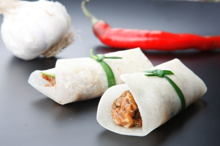 Asian Crepes (Chive tied)