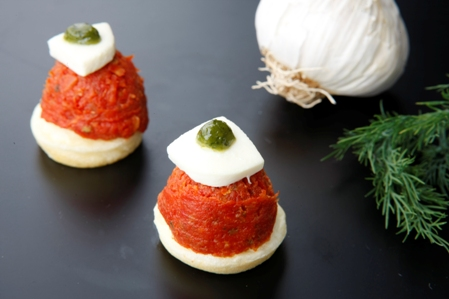 CPB001 Blinis sundried tomato and bocconcini