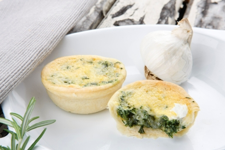 CQC507 Quiches 11 goat cheese and spinach