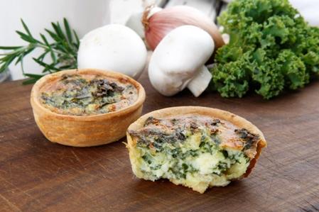 CRRT05 Savoury tarts 6 spinach & ricotta gluten free
