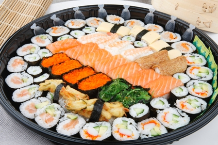 CSHI046 Sushi party tray 60pc